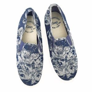Gap Chambray Garden Roses Slip On Sneakers
