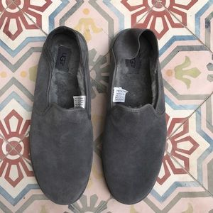 UGG Other - UGG SLIPPERS GREY GRAY MEN SHOES LOAFERS SIZE 13