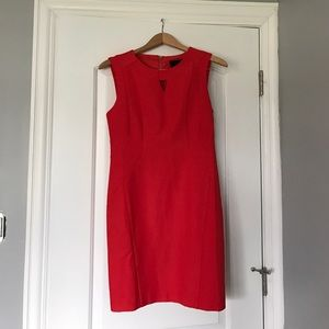 KAii Dresses & Skirts - Bright coral work dress. Figure flattering!