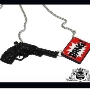 Pinup Girl Clothing Jewelry - Pinup Girl Clothing Bang gun necklace funny