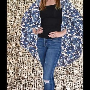 Apt. 9 Other - Sequined Mesh Cocoon Jacket BIG Apt. 9 OS NWT