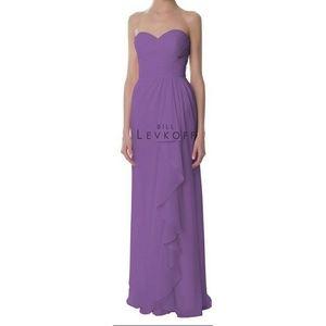 Bill Levkoff Dresses & Skirts - Bill Levkoff long chiffon strapless Coral dress
