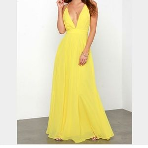 Lulu Dresses & Skirts - Lulus gorgeous yellow gown worn once. $148 listed