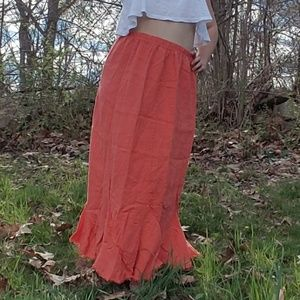 Coral maxi skirt size S