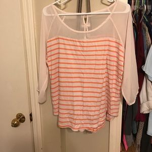 LC Lauren Conrad Tops - Pink and stripped shirt