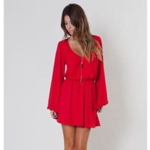 Show Me Your MuMu Dresses & Skirts - NWT Mumu Rainey dress - Hollyday red crisp