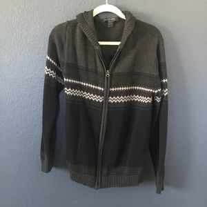 Retrofit Other - Retrofit 2-Tone Grey Zip-up Sweater