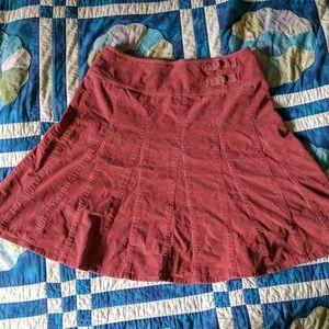 Garnet Hill  Dresses & Skirts - Garnet Hill dusty rose corduroy a-line skirt