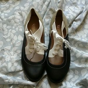 Restricted Shoes - Restricted leather sock oxford lace up flats