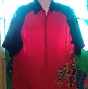 JNCO Men's short sleeve button  shirt size XXL