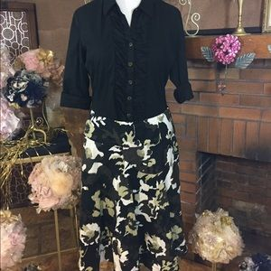 Grace Dresses & Skirts - Grace linen skirt and Zac and Rachel black top