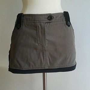 Frankie Morello Dresses & Skirts - Frankie Morello Velvet Button Mini Skirt