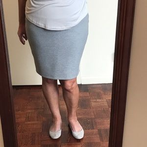 Dresses & Skirts - Heather gray structured skirt