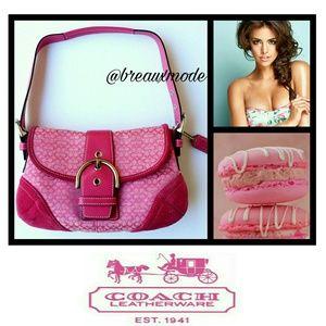 Coach Handbags - ✴ Coach - Pink Signature Hobo Shoulder Bag
