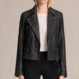 All Saints Jackets & Blazers - Allsaints Cargo Leather Biker Jacket