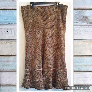 Ashley Stewart Dresses & Skirts - Ashley Stewart Tweed Mermaid Trumpet Skirt