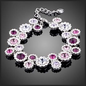 Jewelry - Swarovski Crystal Pink Purple Bracelet S9