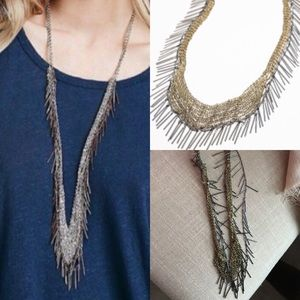 Free People Jewelry - Free people metal fringe mesh necklace festival