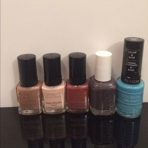 Set of nail polishes