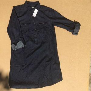 Loft Fashion Tops - Loft Maternity shirt dress Sz: xs  NEW WITH TAGS