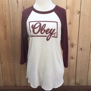 Obey Tops - Obey | Baseball T-shirt