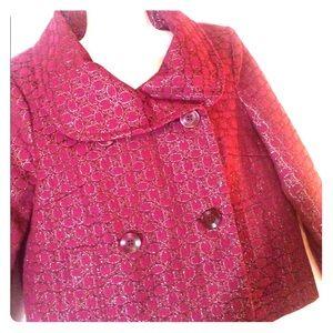 Scarlet Bloom Magenta Crop Coat