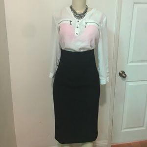 Zara High waist Midi skirt