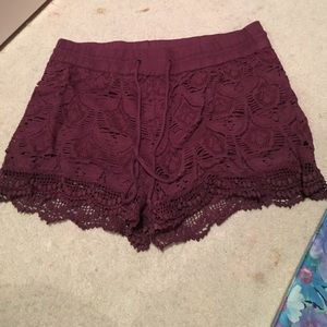 Vanilla Star Pants - Red crochet shorts size large