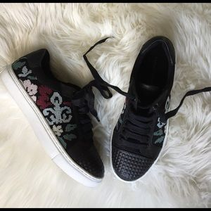 Shoes - Rebecca Minkoff Embroidered Tennis shoes