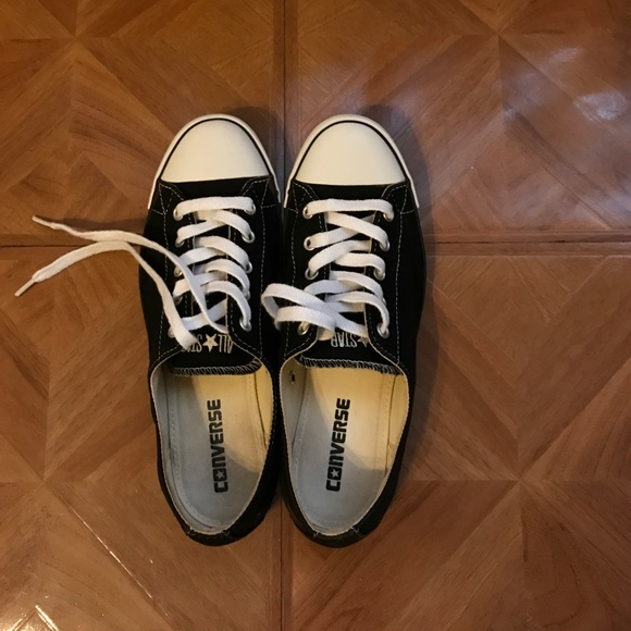 228f7d672c8f Converse Shoes - Black   white low cut chucks