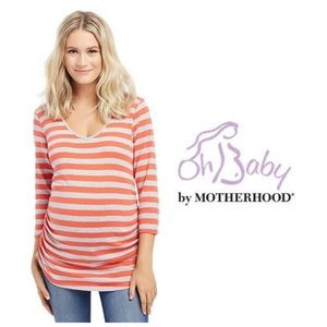 Oh Baby by Motherhood Tops - Oh Baby by Motherhood Striped Maternity Tee