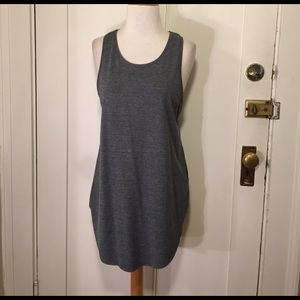 Topshop long gray tank top NWT
