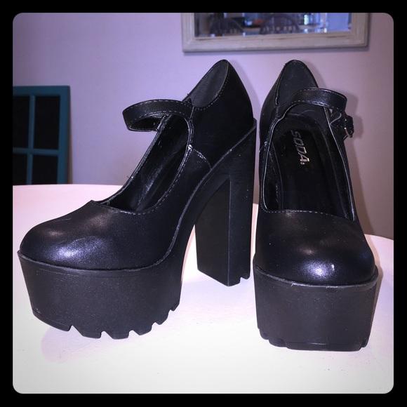 Ladies Killer heel mary jane platform shoes