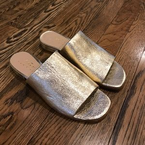 HOT Gold slip ons NEW size 6