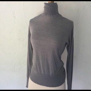 DEX grey lightweight turtleneck top