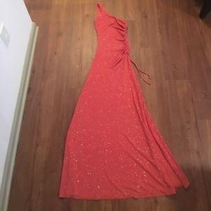 Dresses & Skirts - One Shoulder Orange Dress