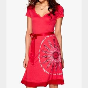 Red desigual dress S coral