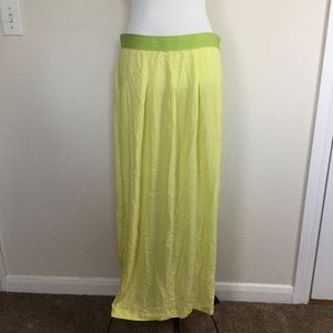 LOFT Dresses & Skirts - LOFT Wispy Yellow Maxi Skirt