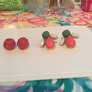 2 pair of practically new boutique pink earrings