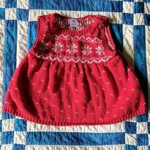Carter's Other - Winter snowflake sweater dress jumper EUC