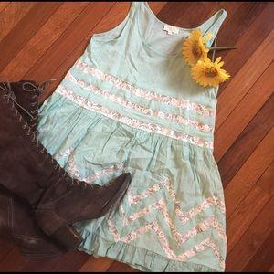 Tea n Cup Dresses & Skirts - Tea & Cup Lace and Polka Dot Lace Boho Dress