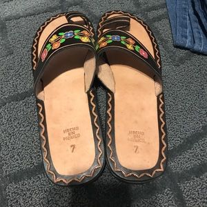 Handmade sandals from Mexico