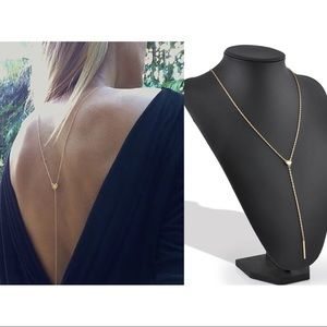 Jewelry - Tassel Heart and Bar Body Necklace