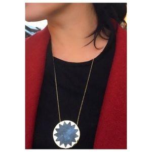 House of Harlow 1960 Jewelry - House of Harlow Dark Gray Large Sunburst Necklace