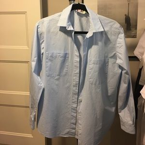 MSGM Tops - MSGM Blue button down Italian made shirt