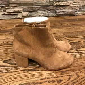 Tan suede boots NEW size 6