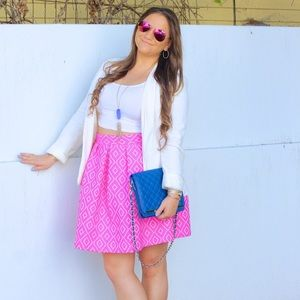 Hutch Design Pink Midi Skirt!