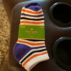 kate spade Accessories - 2 pair purple, orange, and black kate spade socks