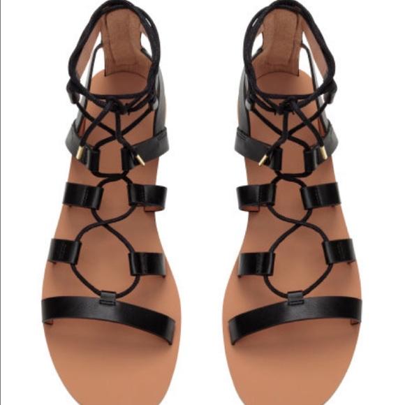 65a738de5d49 H M Shoes - H M black gladiator sandals