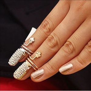 Gold or Silver Nail Rings